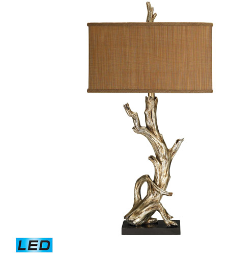 Dimond Lighting 91 840 Led Driftwood 35 Inch 13 5 Watt Silver Leaf Table Lamp Portable Light In