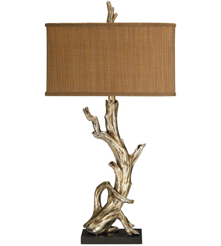 Dimond Lighting Driftwood 1 Light Table Lamp in Silver Leaf 91-840 photo