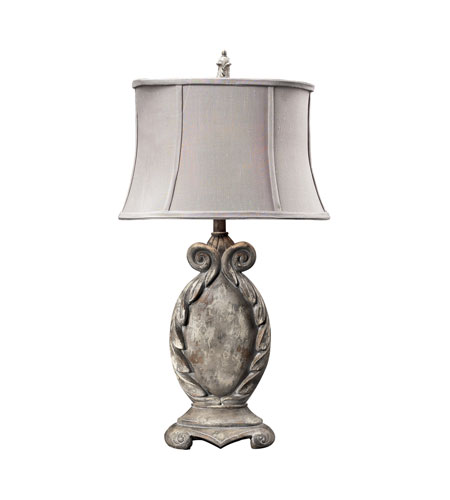 Dimond Lighting Waterloo 1 Light Table Lamp in Restoration Grey 93-10006 photo
