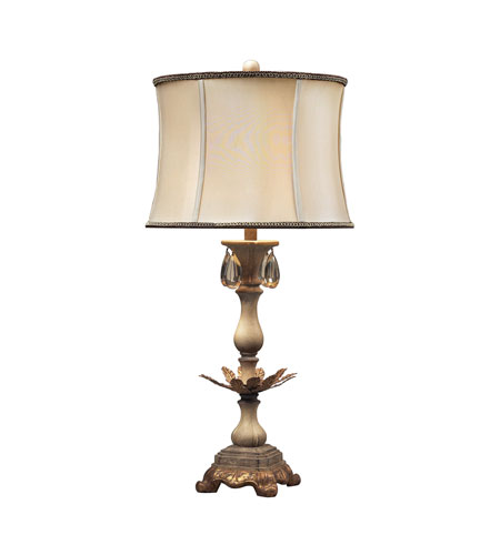 Dimond Lighting Newman Grove 1 Light Table Lamp in Sussex Stone With Gold 93-10023 photo