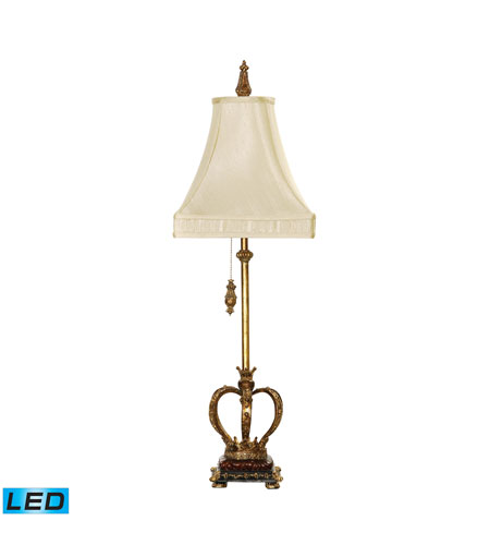 Dimond Lighting Huntington Crown 1 Light Table Lamp in Gold Leaf 93-308-LED photo