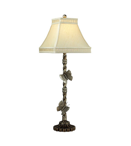 Dimond Lighting 93-9107 Wolcott Lake 36 inch 60 watt Antiqued Silver Leaf Table Lamp Portable Light photo