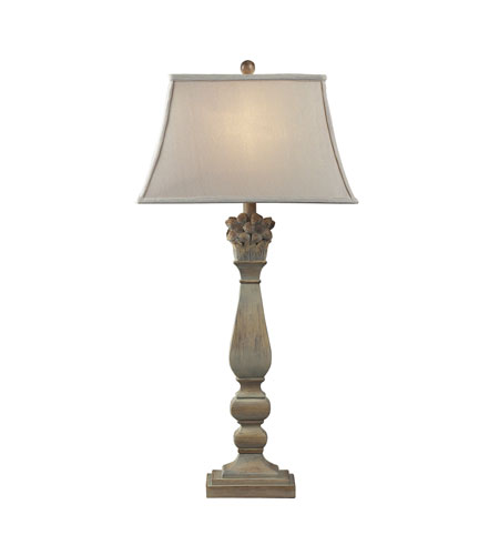 Dimond Lighting Bidarry 1 Light Table Lamp in Bleached Wood 93-9115 photo