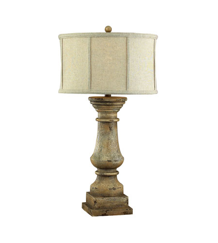 Dimond Lighting Cahors View 1 Light Table Lamp in Monkstown Distressed Beige 93-9121 photo