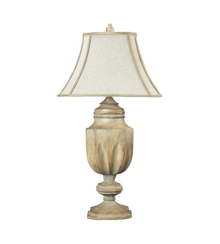 Dimond Lighting Lone Oak 1 Light Table Lamp in Bleached Wood 93-9243 photo