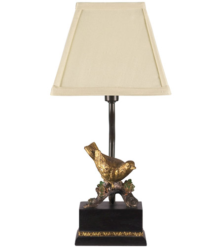 Dimond Lighting 93-938 Perching Robin 15 inch 15 watt Table Lamp Portable Light photo