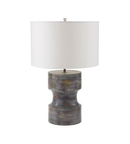 dimond lighting dumbell 1 light table lamp in white washed. Black Bedroom Furniture Sets. Home Design Ideas