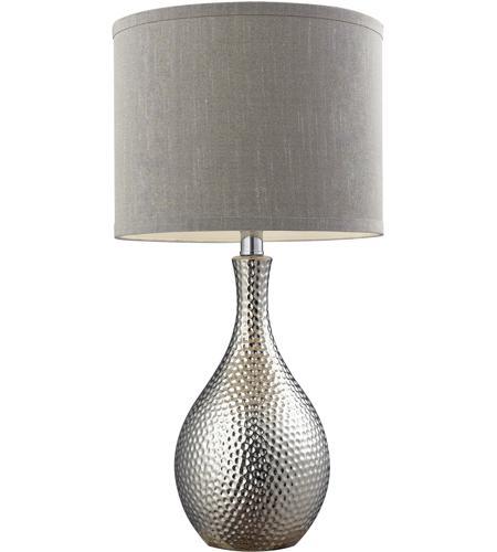 Dimond lighting d124 hammered 22 inch 60 watt chrome plated table dimond lighting d124 hammered 22 inch 60 watt chrome plated table lamp portable light in incandescent aloadofball Images