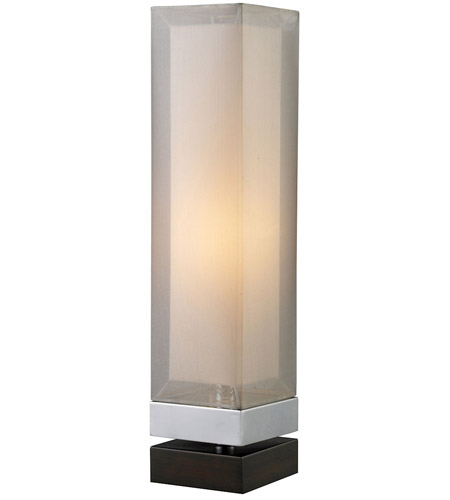 Dimond Lighting D1409 Volant 23 inch 40 watt Chrome and Espresso Painted Bass Table Lamp Portable Light photo