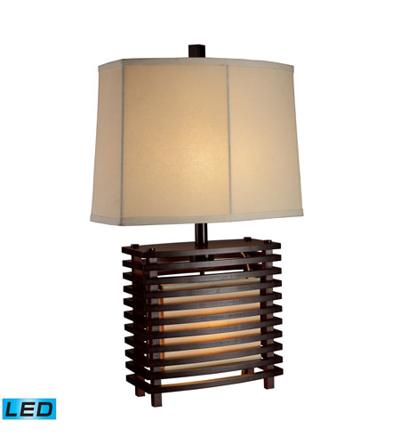 Dimond Lighting Burns Valley 2 Light Table Lamp in Espresso Wood D1419-LED photo