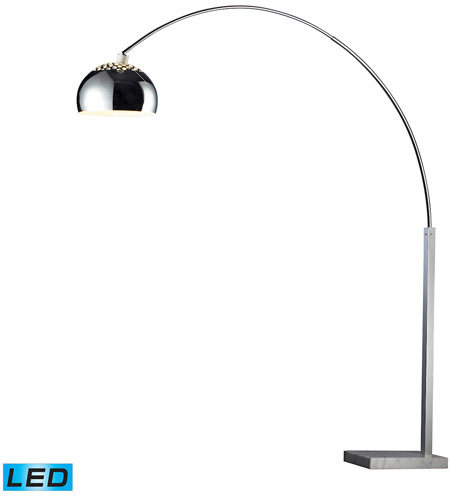 Dimond Lighting D1428-LED Penbrook 79 inch 13.5 watt Silver Plated And White Marble Floor Lamp Portable Light in LED photo