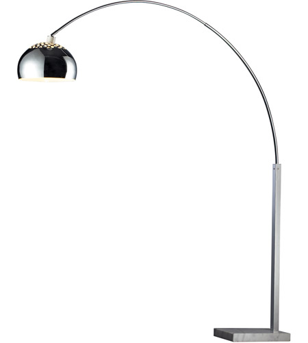 Dimond Penbrook 1 Light Floor Lamp in Silver Plated and White Marble D1428 photo