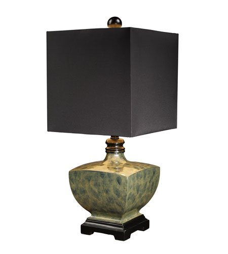 Dimond Corsica Table Lamp in Harrington Green with Milano Black Shade D1430 photo