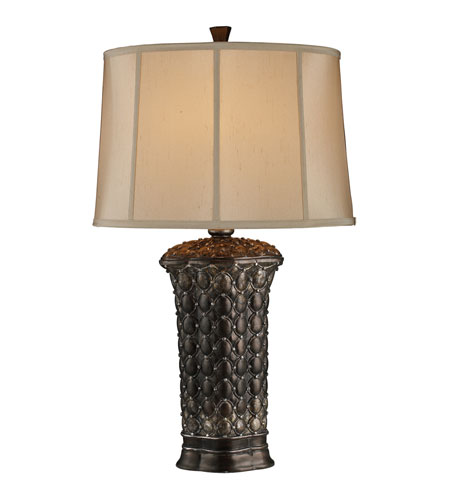 Dimond Norwood Table Lamp in Canby with Oval Oyster Faux Silk Fabric Shade and Cream Liner D1439 photo