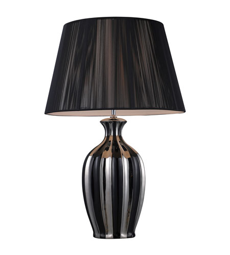 Dimond Lighting D1445 Olyphant 27 inch 150 watt Chrome And Black Table Lamp Portable Light photo