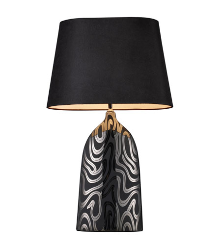 Dimond Marietta Table Lamp in Silver and Black with Black Shade and Silver Foil Liner D1449B photo