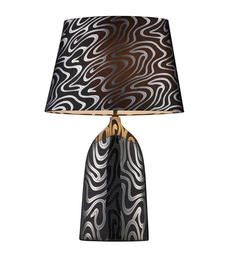 Dimond Marietta Table Lamp in Silver and Black with Silver and Black Shade and Silver Foil Liner D1449P photo