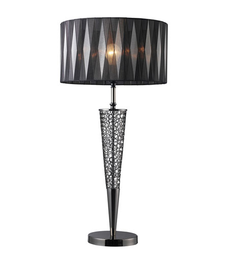 Dimond Lighting D1462 Glendon 31 inch 150 watt Black Nickel Table Lamp Portable Light photo