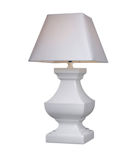 Dimond Palmyra Table Lamp in Gloss White with White Shade D1465 photo
