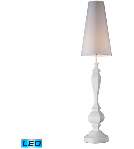 Dimond Lighting Palmyra 1 Light Floor Lamp in Gloss White D1466-LED photo
