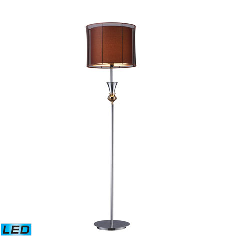 Dimond Lighting Dunbar 1 Light Floor Lamp in Chrome And Gold Plate D1468-LED photo