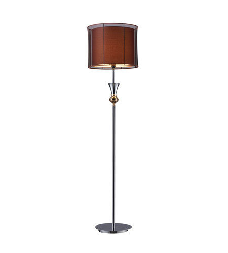 Dimond Dunbar 1 Light Floor Lamp in Chrome and Gold Plate D1468 photo
