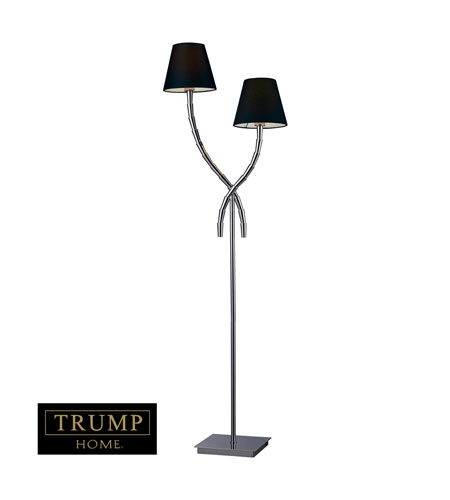 Dimond Trump Home Park Avenue 2 Light Floor Lamp in Chrome D1474 photo