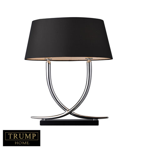 Dimond Trump Home Park East 2 Light Table Lamp in Chrome and Black D1486 photo