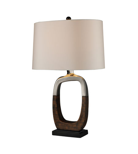 Dimond Irvona 1 Light Table Lamp in Silver Plating and Bronze D1491 photo