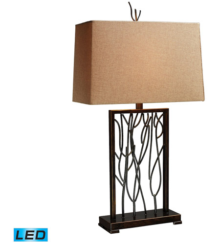 Dimond Lighting D1518-LED Belvior Park 33 inch 13.5 watt Aria Bronze And Iron Table Lamp Portable Light in LED photo