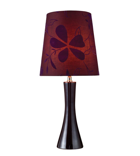 Dimond Cressona 1 Light Table Lamp in Black Berry D1591 photo