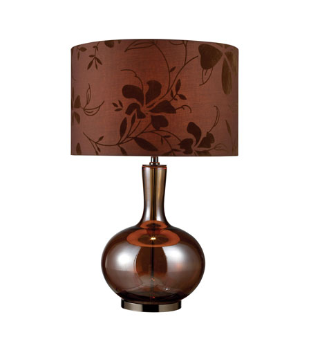 Dimond Fairview 1 Light Table Lamp in Bronze and Coffee Plating D1603 photo