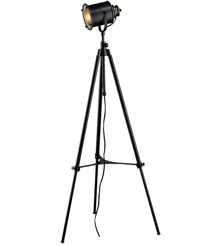 Dimond Ethan 1 Light Floor Lamp in Restoration Black D1735 photo