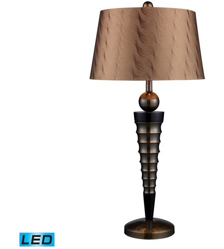 Dimond Lighting Laurie 1 Light Table Lamp in Dunbrook And Dark Wood D1738-LED photo