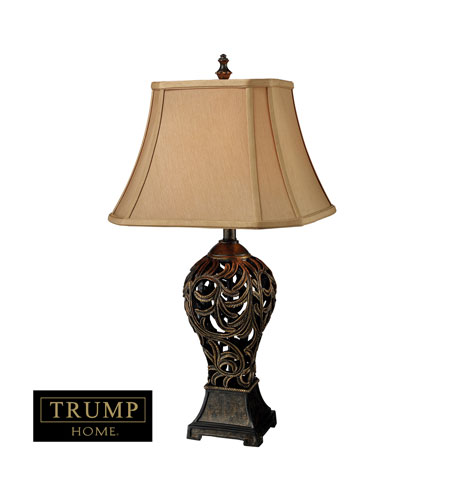 Dimond Trump Home Allegra 1 Light Table Lamp in Buthan Bronze D1757 photo