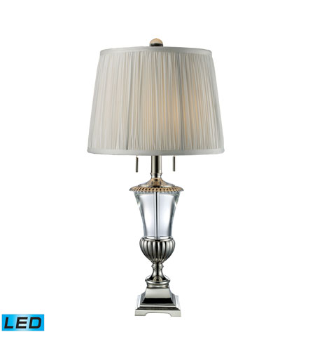 Dimond Lighting D1807-LED Bunting 28 inch 13.5 watt Polished Nickel And Clear Crystal Table Lamp Portable Light  photo