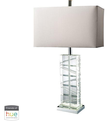 Dimond Lighting D1813-HUE-D Avalon 23 inch 60 watt Chrome with Crystal Table Lamp Portable Light photo