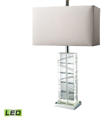 Dimond Lighting D1813-LED Avalon 23 inch 13.5 watt Chrome And Crystal Table Lamp Portable Light in LED photo