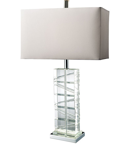 Dimond Lighting D1813 Avalon 23 inch 150 watt Chrome and Crystal Table Lamp Portable Light in Incandescent photo