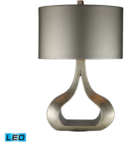 Dimond Lighting Carolina 1 Light Table Lamp in Silver Leaf D1840-LED photo