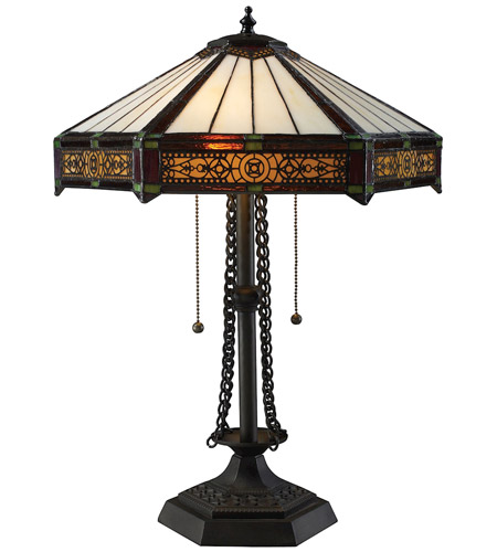 Dimond Filigree 2 Light Table Lamp in Tiffany Bronze D1852 photo