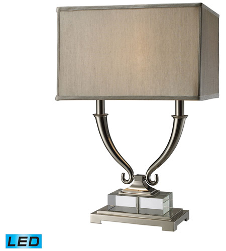 Dimond Lighting Roberts 2 Light Table Lamp In Polished Nickel And