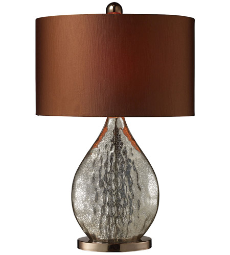 Dimond Sovereign 1 Light Table Lamp in Antique Mercury Glass with Coffee Plating D1889 photo