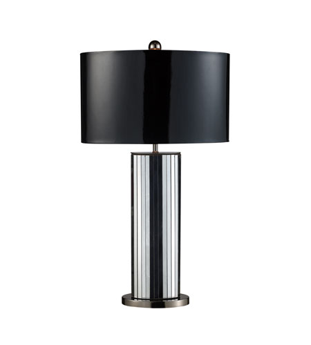 Dimond Shreve 1 Light Table Lamp in Mirrored and Black Nickel D1893 photo