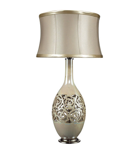 Dimond Lake Worth 1 Light Table Lamp in Pearlescent Cream D2119 photo