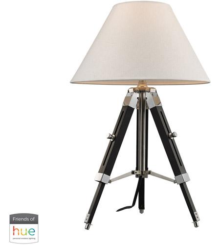 Dimond Lighting D2125 Hue D Studio 17 Inch 60 Watt Black With Chrome Table Lamp Portable Light