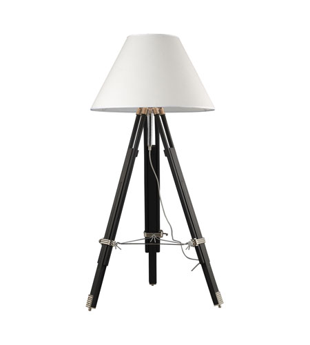Dimond Studio 1 Light Floor Lamp in Chrome and Black D2127 photo