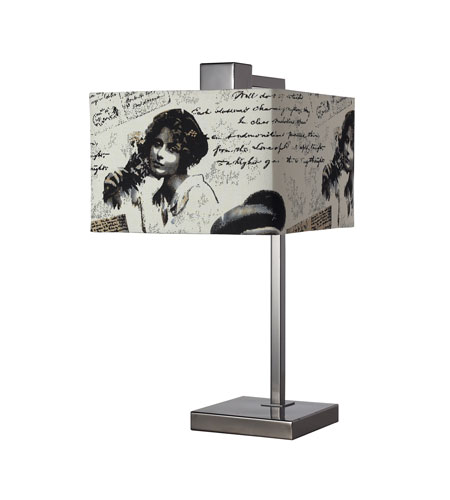 Dimond Meade 1 Light Table Lamp in Black Nickel D2160 photo