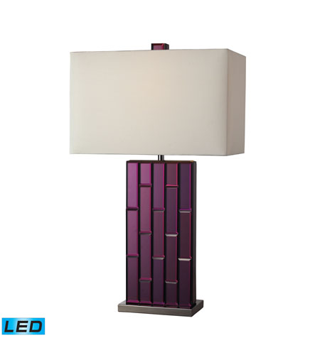 Dimond Lighting D2162-LED Avalon 27 inch 13.5 watt Purple Mirror And Black Nickel Table Lamp Portable Light in LED photo