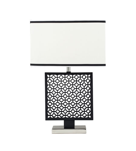 Dimond Portage 1 Light Table Lamp in Black / Polished Nickel D2210 photo